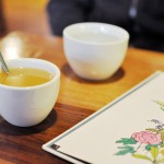 Hot apple cider, gingko trees, & roasted mochi